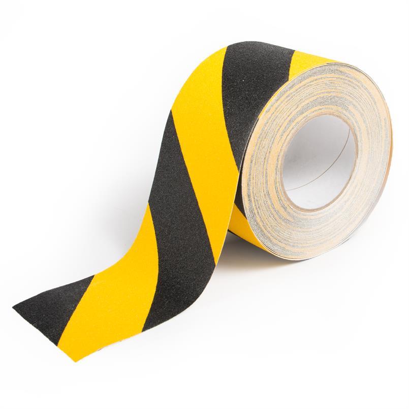 Antislip tape gevarenzone zwart/geel B=100mm L=18,3m