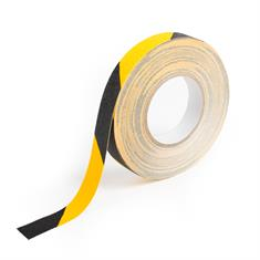 Antislip tape gevarenzone zwart/geel B=25mm L=18,3m