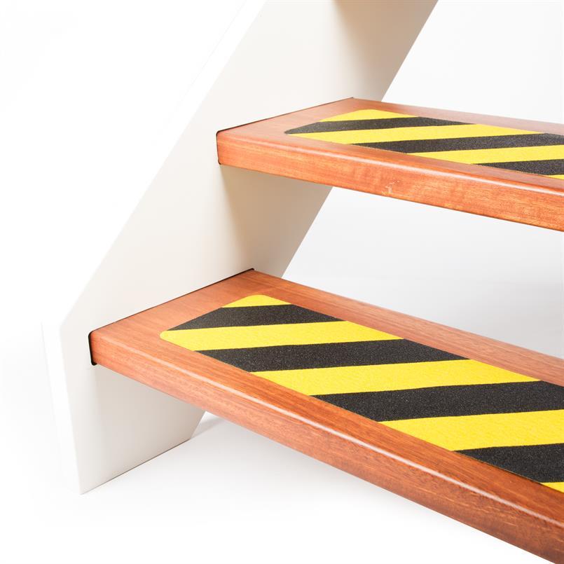 Antislip tape gevarenzone zwart/geel LxB= 610x150mm