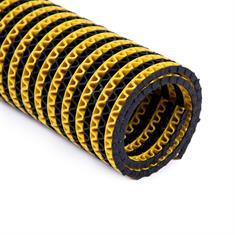 Antislipmat badkamer zwart/geel klein 750x120cm