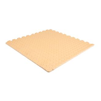 EVA FOAM tegel checker creme 600x600x12mm (4 tegels+randen)