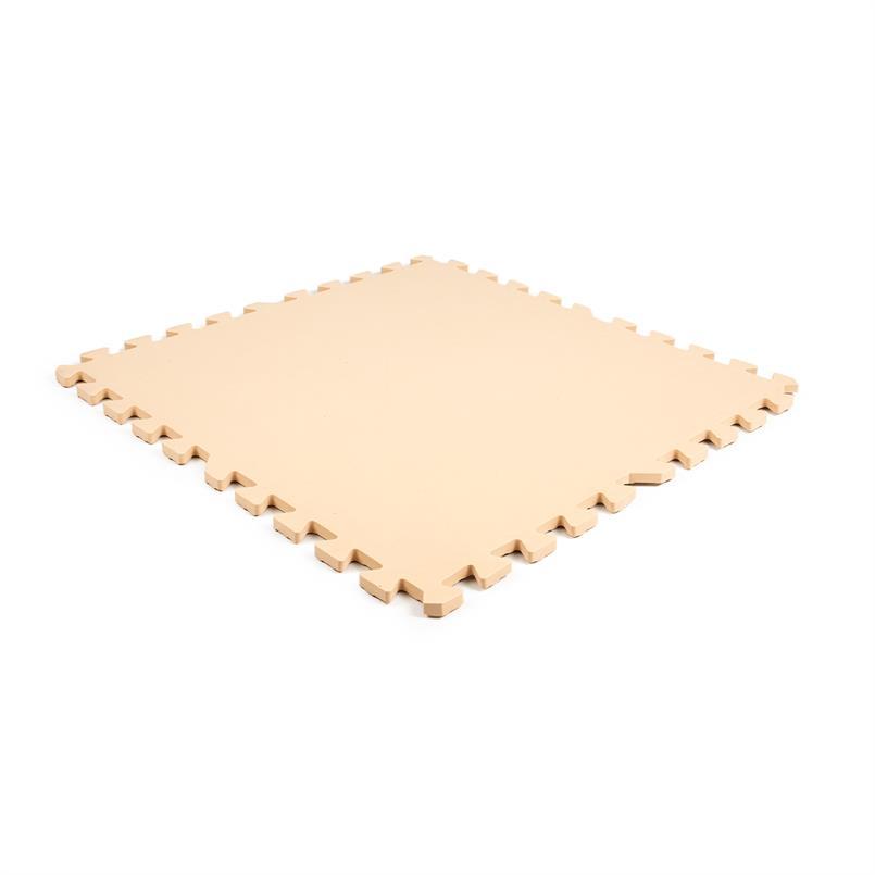 EVA FOAM tegel checker creme 600x600x12mm (4 tegels+randen)