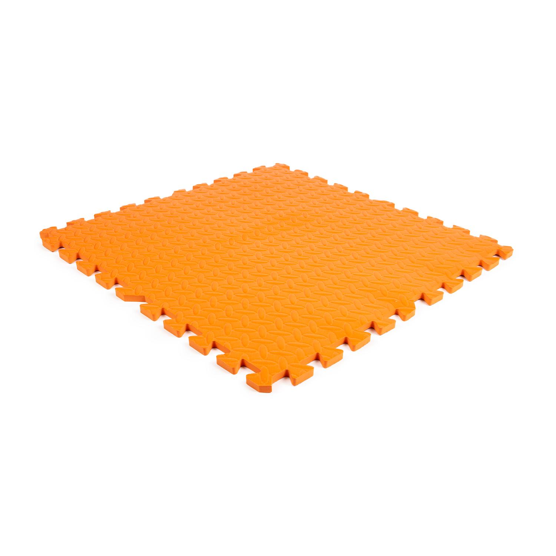 Eva Foam Tegel Checker Oranje 600x600x12mm 4 Tegels Randen Foam Vloertegels Rubberen Matten Rubbermagazijn