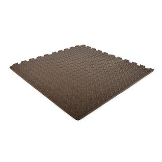 EVA FOAM tegel checker taupe 620x620x12mm (4 tegels+randen)