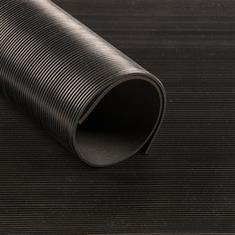 Fijnribloper zwart 3mm (breedte 140cm)