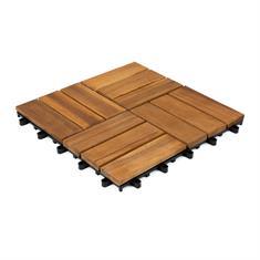 Houten terrastegel Malmo 30x30x2,4cm (set 10 stuks)