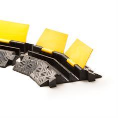Kabelbrug 2 kanalen bochtstuk links zwart/geel 400x255x45mm