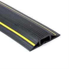 Kabelgoot 3 kanalen zwart/geel LxBxH=9000x77x16mm