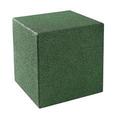 Kubus met grondpen groen 40x40x40cm