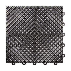 Open kliktegel hard zwart 300x300x15mm