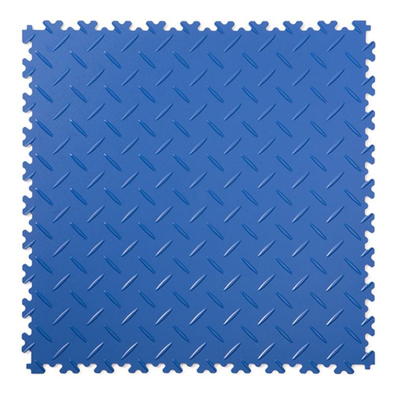 PVC kliktegel diamant blauw 500x500x4mm