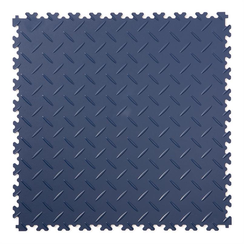 PVC kliktegel diamant donkerblauw 500x500x4mm