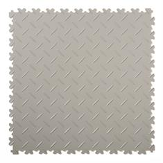 PVC kliktegel diamant lichtgrijs 500x500x4mm