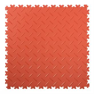 PVC kliktegel diamant terracotta 500x500x4mm