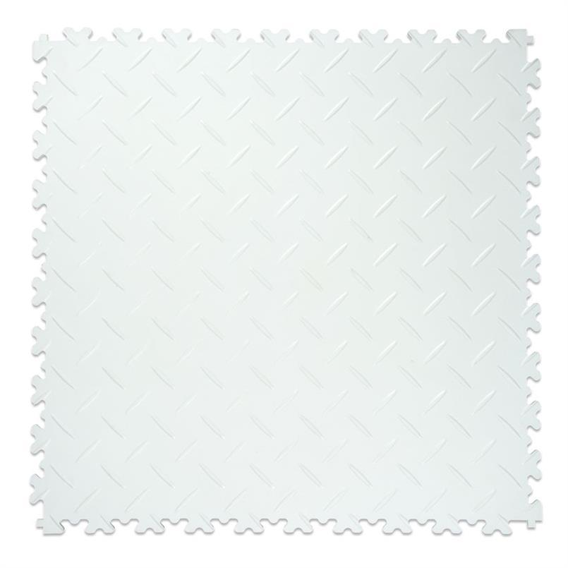 PVC kliktegel diamant wit 500x500x4mm