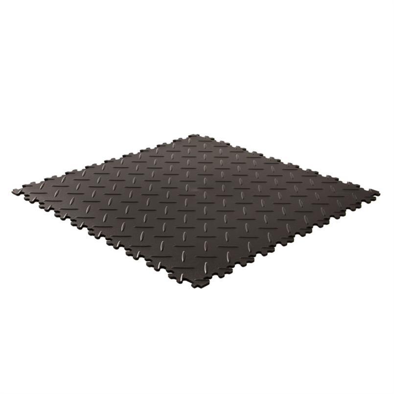 PVC kliktegel diamant zware uitvoering zwart 500x500x7mm