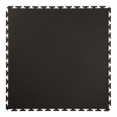 PVC kliktegel hamerslag zwart 500x500x4,5mm