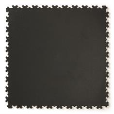PVC kliktegel hamerslag zwart 500x500x4mm