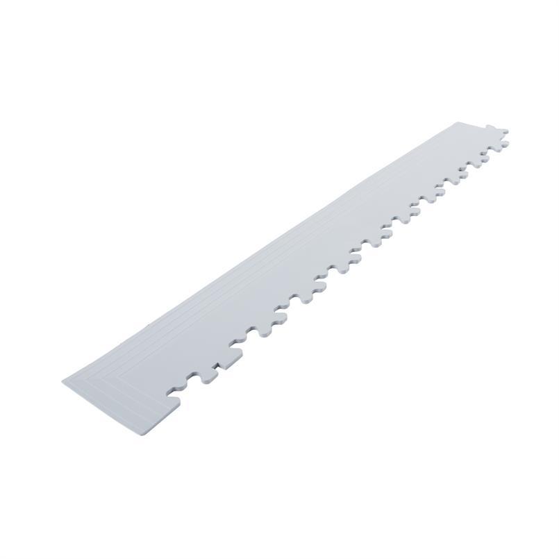 PVC kliktegel hoekstuk lichtgrijs 4mm