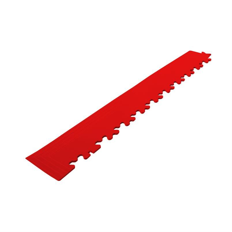 PVC kliktegel hoekstuk rood 4mm