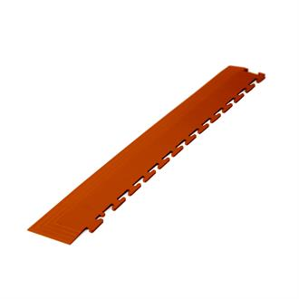 PVC kliktegel hoekstuk terracotta 4,5mm