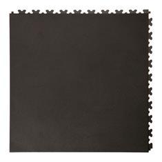 PVC kliktegel leather zwart 500x500x5,5mm
