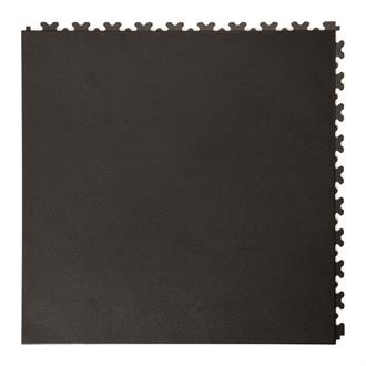 PVC kliktegel leather zwart 500x500x5,5mm