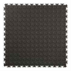 PVC kliktegel nop zwart 500x500x4,5mm