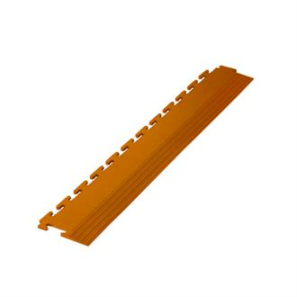 PVC kliktegel randstuk terracotta 4,5mm