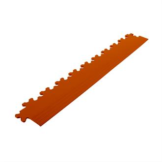 PVC kliktegel randstuk terracotta 7mm