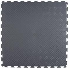 PVC kliktegel traanplaat donkergrijs 530x530x4mm