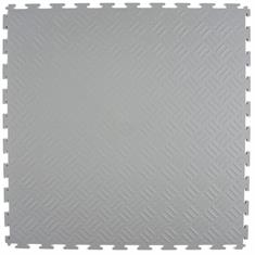 PVC kliktegel traanplaat lichtgrijs 530x530x4mm