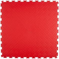 PVC kliktegel traanplaat rood 530x530x4mm