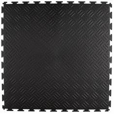 PVC kliktegel traanplaat zwart 530x530x4mm