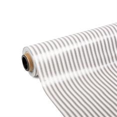 PVC tafelbekleding grijs gestreept (breedte 140cm)