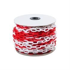 Schakelketting rood/wit 6mm L=10m