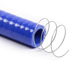 Siliconen slang met stalen spiraal blauw DN=9,5mm L=1000mm