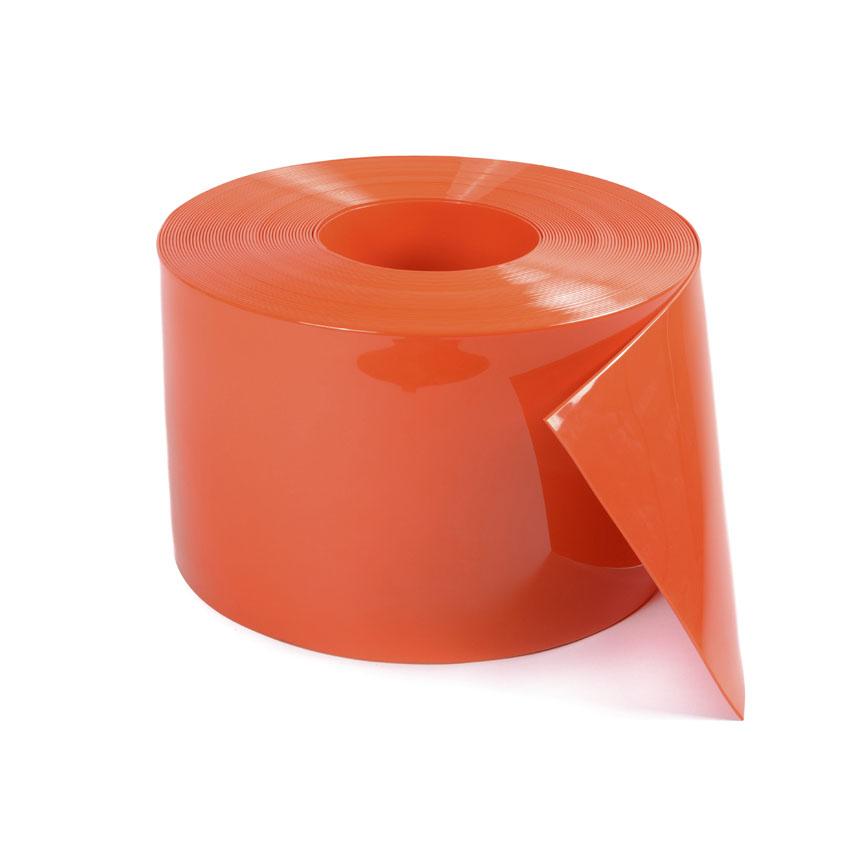 Stroken gordijn PVC oranje 300x3mm - Strokengordijn - Rubberen ...