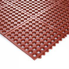 Werkplaatsmat rood 900x900x14mm schakelbaar